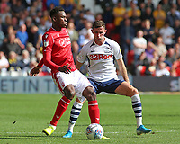 Preston North End's Alan Browne chases down Nottingham Forest's Alfa Semedo<br /> <br /> Photographer David Shipman/CameraSport<br /> <br /> The EFL Sky Bet Championship - Nottingham Forest v Preston North End - Saturday 31st August 2019 - The City Ground - Nottingham<br /> <br /> World Copyright © 2019 CameraSport. All rights reserved. 43 Linden Ave. Countesthorpe. Leicester. England. LE8 5PG - Tel: +44 (0) 116 277 4147 - admin@camerasport.com - www.camerasport.com