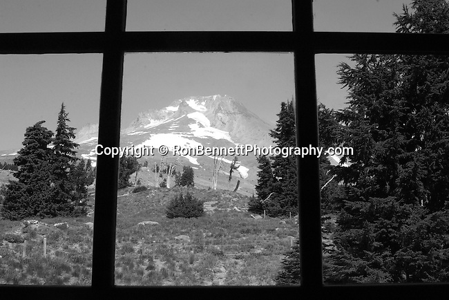 Mount Hood through window at Timberline Lodge Oregon, Mt. Hood, Mt. Hood through window, Oregon, Mount Hood 11,249 feet high Oregon, Mount Hood, Multnomah tribe, stratovolcano, Pacific Ocean, Fine Art Photography by Ron Bennett, Fine Art, Fine Art photography, Art Photography, Copyright RonBennettPhotography.com ©
