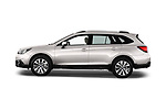 Car driver side profile view of a 2017 Subaru Outback Premium 5 Door Wagon