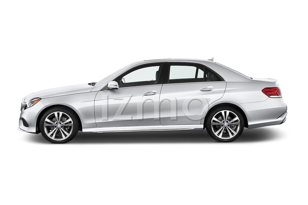 Driver side profile view of a 2014 Mercedes E350 Sedan