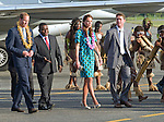 """CATHERINE, DUCHESS OF CAMBRIDGE AND PRINCE WILLIAM.received a traditional welcome on arrival at Honiara Airport at the start of thei 2 day visit to the Solomon Islands..After the arrival ceremony where they were presented with garlands the Royal Couple board a float in the shape of a fishing vessel for the drive to the local church for Sunday Mass. Large crowds of locals lined the route to caych a glimpse of the Kate and Prince William_16/09/2012.Mandatory credit photo: ©Dias/DIASIMAGES..(Failure to credit will incur a surcharge of 100% of reproduction fees)..                **ALL FEES PAYABLE TO: """"NEWSPIX INTERNATIONAL""""**..IMMEDIATE CONFIRMATION OF USAGE REQUIRED:.DiasImages, 31a Chinnery Hill, Bishop's Stortford, ENGLAND CM23 3PS.Tel:+441279 324672  ; Fax: +441279656877.Mobile:  07775681153.e-mail: info@newspixinternational.co.uk"""