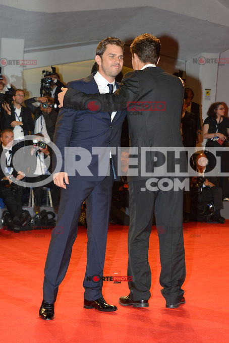 VENICE, ITALY - AUGUST 30: Actors Ariel Vromen and Michael Shannon attend 'The Iceman' Premiere during the 69th Venice International Film Festival at Palazzo del Casino on August 30, 2012 in Venice, Italy AFG / Mediapunchinc