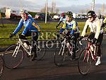 larissa Quinn Healy, Angela Gargan and Angela Kearney who took part in the Duleek Parish School cycle. Photo:Colin Bell/pressphotos.ie