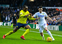 Leeds United's Jack Harrison takes on Blackburn Rovers' Ryan Nyambe<br /> <br /> Photographer Alex Dodd/CameraSport<br /> <br /> The EFL Sky Bet Championship - Leeds United v Blackburn Rovers - Wednesday 26th December 2018 - Elland Road - Leeds<br /> <br /> World Copyright &copy; 2018 CameraSport. All rights reserved. 43 Linden Ave. Countesthorpe. Leicester. England. LE8 5PG - Tel: +44 (0) 116 277 4147 - admin@camerasport.com - www.camerasport.com