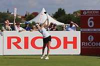 Nelly Korda (USA) on the 6th tee during Round 4 of the Ricoh Women's British Open at Royal Lytham &amp; St. Annes on Sunday 5th August 2018.<br /> Picture:  Thos Caffrey / Golffile<br /> <br /> All photo usage must carry mandatory copyright credit (&copy; Golffile | Thos Caffrey)