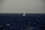 Yacht sailing between Tenerife and La Gomera, Canary Islands,Spain