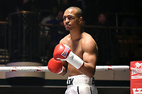 Harlem Eubank (white shorts) defeats Angel Emilov during a Boxing Show at York Hall on 3rd March 2018