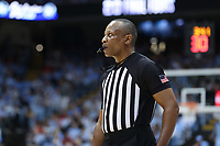 CHAPEL HILL, NC - FEBRUARY 25: Official Michael Stephens during a game between NC State and North Carolina at Dean E. Smith Center on February 25, 2020 in Chapel Hill, North Carolina.