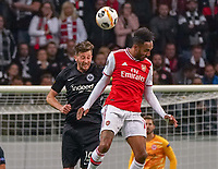 David Abraham (Eintracht Frankfurt) vs Nicholas Pepe (Arsenal London) - 19.09.2019:  Eintracht Frankfurt vs. Arsenal London, UEFA Europa League, Gruppenphase, Commerzbank Arena<br /> DISCLAIMER: DFL regulations prohibit any use of photographs as image sequences and/or quasi-video.