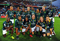 Beaten cup finalists South Africa on day two of the 2018 HSBC World Sevens Series Hamilton at FMG Stadium in Hamilton, New Zealand on Saturday, 3 February 2018. Photo: Dave Lintott / lintottphoto.co.nz