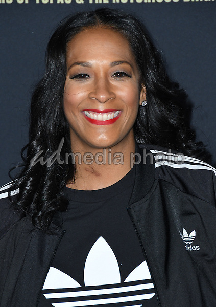 """22 February 2018 - Hollywood, California - Lyah Leflore. USA Network's """"Unsolved: The Murders of Tupac & The Notorious B.I.G."""" held at Avalon Hollywood. Photo Credit: Birdie Thompson/AdMedia"""