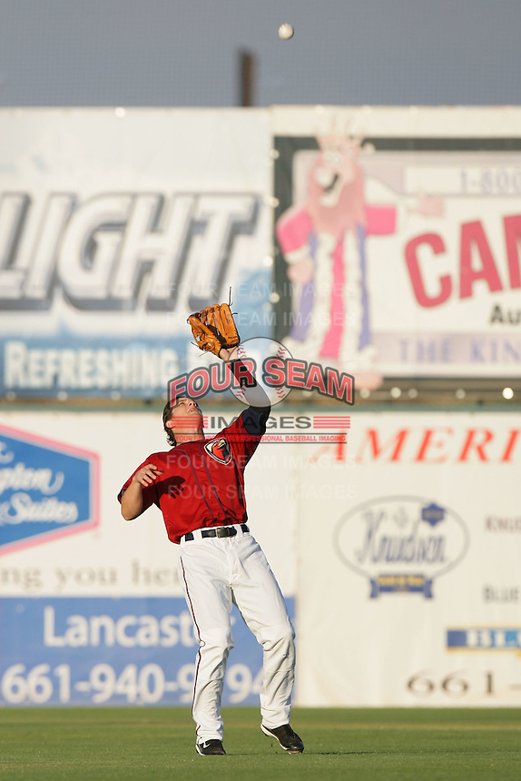 August 16 2009: Brandon Barnes of the Lancaster JetHawks during game against the Bakersfield Blaze at Clear Channel Stadium in Lancaster,CA.  Photo by Larry Goren/Four Seam Images