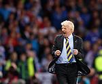 Gordon Strachan celebrates at full time