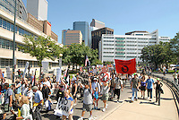24 Aug 08: On the day before the Democratic National Convention is scheduled to begin about 1,500 people participated in the ReCreate 68 rally, which included a march from the Colorado state capitol building to the Pepsi Center.