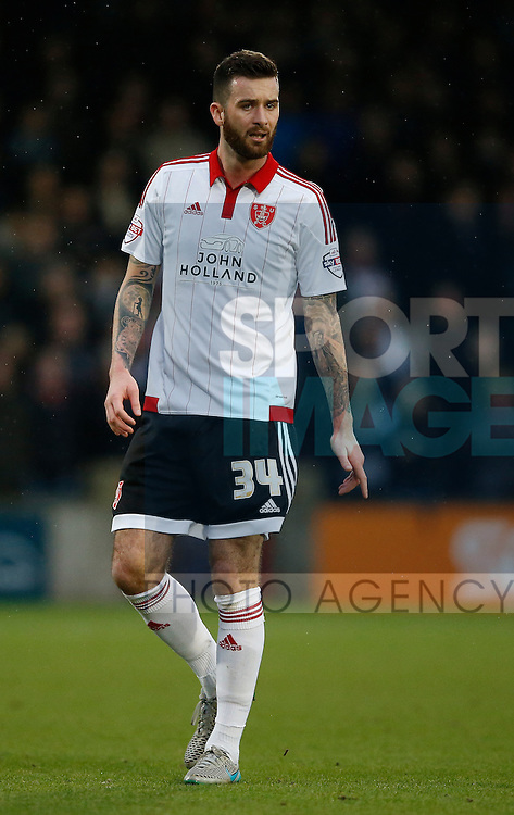 David Edgar of Sheffield Utd - English League One - Scunthorpe Utd vs Sheffield Utd - Glandford Park Stadium - Scunthorpe - England - 19th December 2015 - Pic Simon Bellis/Sportimage