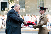Picture by Allan McKenzie/SWpix.com - 25/08/2017 - Rugby League - Commemorative wreath laying ceremony - The Cenotaph, London, England - The RFL's Chief Executive Nigel Wood is presented with a wreath to lay at the Cenotaph.