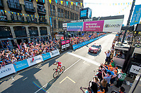 Picture by SWpix.com - 06/05/2018 - Cycling - 2018 Tour de Yorkshire - Stage 4: Halifax to Leeds - Yorkshire, England - Cofidis' Stephane Rossetto takes the win in Leeds.