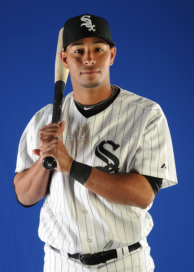 Chicago White Sox Angel Sanchez (5) at media photo day on February 19, 2013 during spring training in Glendale, AZ.