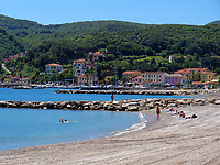 Strand und Hafen, Cavo, Elba, Region Toskana, Provinz Livorno, Italien, Europa<br /> beach and port, Cavo,, Elba, Region Tuscany, Province Livorno, Italy, Europe