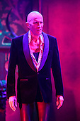 London, UK. 15 September 2015. Pictured: Richard O'Brien. The Rocky Horror Show, written and starring Richard O'Brien, returns to the West End for a limited run at the Playhouse theatre from 11 September 2015. The Rocky Horror Show Gala Performance on 17 September will be broadcast live to cinemas across the UK and Europe. With Richard O'Brien as Narrator, David Bedella as Frank'n'furter, Ben Forster as Brad, Haley Flaherty as Janet and Dominic Andersen as Rocky. Photo: Bettina Strenske