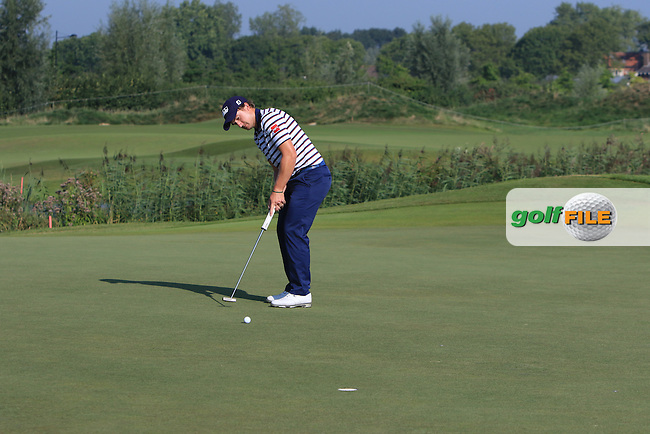 Paul Dunne (IRL) on the 3rd green during Round 1 of the 2016 KLM Open at the Dutch Golf Club at Spijk in The Netherlands on Thursday 08/09/16.<br /> Picture: Thos Caffrey | Golffile
