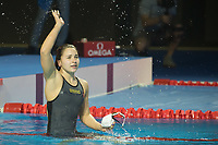 Ajna Kesely of Hungary won in the Women's 400m Freestyle competition at the FINA Champions Swim Series at the Danube Arena in Budapest, Hungary on May 11, 2019. ATTILA VOLGYI