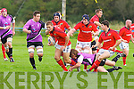 Munster's Cian Bohane in action in the British and Irish Cup at O'Dowd .park, Tralee on Saturday.