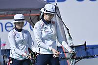 Chang Hye Jin, Ki Bo Bae Korea <br /> Roma 03-09-2017 Stadio dei Marmi <br /> Roma 2017 Hyundai Archery World Cup Final <br /> Finale Coppa del mondo tiro con l'arco <br /> Foto Andrea Staccioli Insidefoto/Fitarco