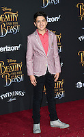 Joshua Rush at the premiere for Disney's &quot;Beauty and the Beast&quot; at El Capitan Theatre, Hollywood. Los Angeles, USA 02 March  2017<br /> Picture: Paul Smith/Featureflash/SilverHub 0208 004 5359 sales@silverhubmedia.com