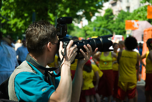 Photographer at canival the culture Berlin Germany