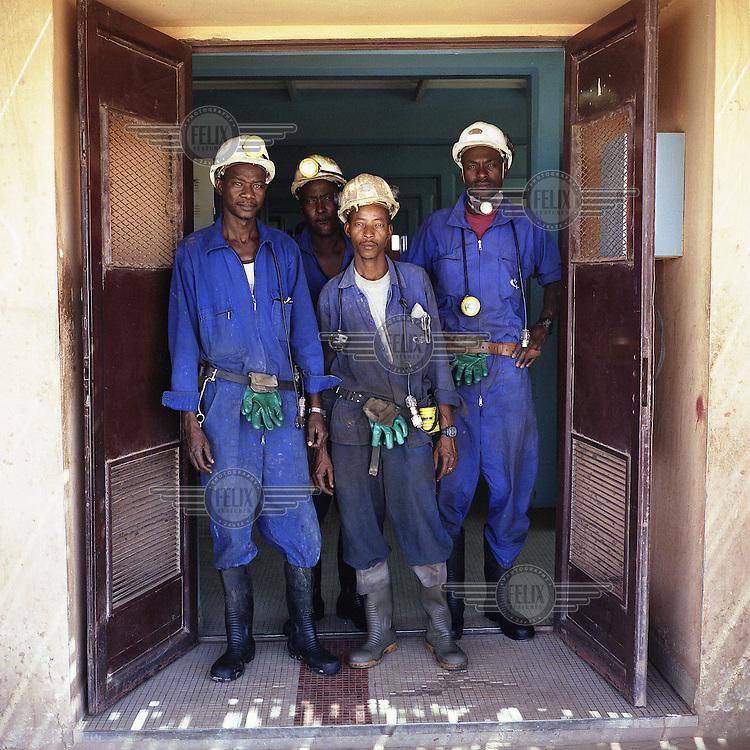 Uranium miners in Arlit.