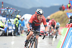 Hermann Pernsteiner (AUT) Bahrain-Merida crosses the finish line in 6th place at the end of Stage 9 of La Vuelta 2019 running 99.4km from Andorra la Vella to Cortals d'Encamp, Spain. 1st September 2019.<br /> Picture: Colin Flockton | Cyclefile<br /> <br /> All photos usage must carry mandatory copyright credit (© Cyclefile | Colin Flockton)