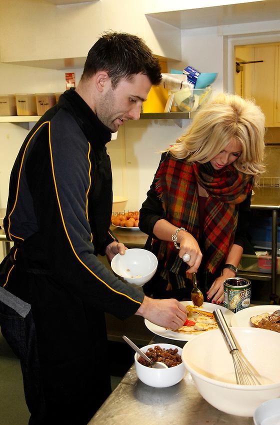 Photo: Richard Lane/Richard Lane Photography. London Wasps Shrove Tuesday Pancake Making Comptition. 12/02/2013.