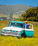 Cowboy and his 1968 Ford Pickup Truck, San Luis Obispo, California (Jason Haase)