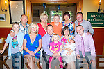 William&Natalie Maher,Brosna(front centre)Christened their new baby Harry in the Immaculate Conception Church,Rathass,Tralee last Saturday by Fr Bernard Healy and after to a family celebration in Stoker's Lodge(Seated)L-R Jack Maher,Jillian Kerins,William,Natalie&Amelia Maher with Gary McCormack(Back)L-R Liam&Phillis Maher,Eileen McCormack with Eileen&John O'Mahony