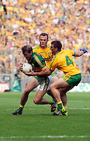 Donnadha Walsh with the ball in the All-Ireland Football Final against Donegal in Croke Park 2014.<br /> Photo: Don MacMonagle<br /> <br /> <br /> Photo: Don MacMonagle <br /> e: info@macmonagle.com
