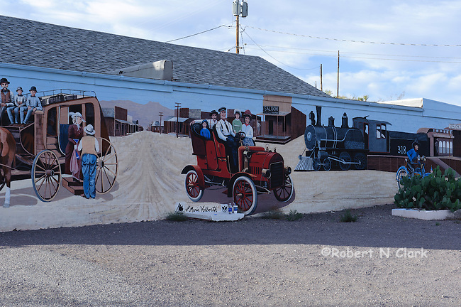 Mural on wall of curio shop in Searchlight, Nevada