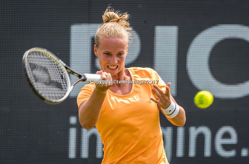 Den Bosch, Netherlands, 13 June, 2017, Tennis, Ricoh Open, Richel Hogenkamp (NED)<br /> Photo: Henk Koster/tennisimages.com