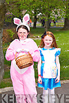 Ciara and Roisin Sugrue from Ballyseedy at the Kids Fancy Dress Easter Fun Run in Tralee Town Park on Saturday