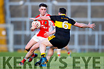 Alan O'Sullivan Dr Crokes in action against Rob Ó Sé West Kerry in the Kerry Senior Football Championship Semi Final at Fitzgerald Stadium on Saturday.