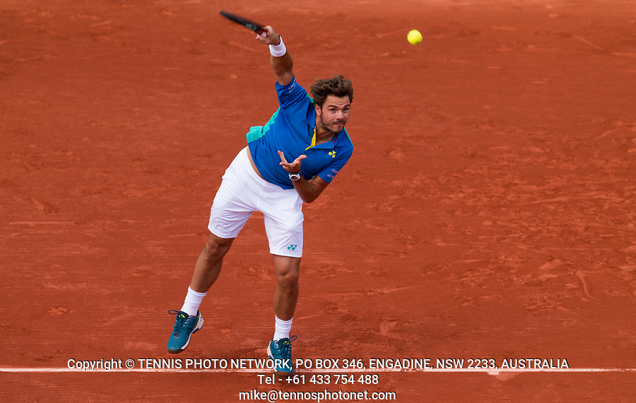 STAN WAWRINKA (SUI)<br /> <br /> TENNIS - FRENCH OPEN - ROLAND GARROS - ATP - WTA - ITF - GRAND SLAM - CHAMPIONSHIPS - PARIS - FRANCE - 2017  <br /> <br /> <br /> <br /> &copy; TENNIS PHOTO NETWORK