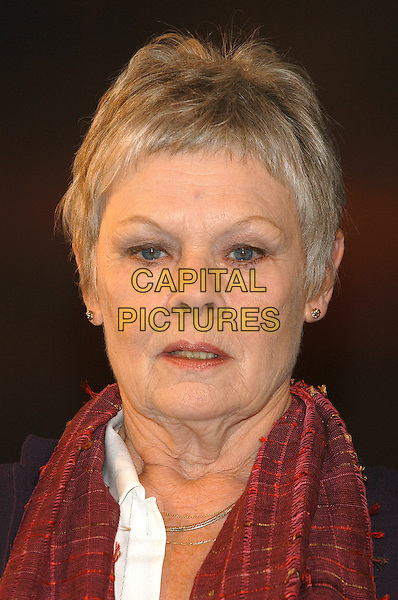 """DAME JUDI DENCH .star in """"The Breath of Life"""" .play at Theatre Royal, Haymarket, 29th October 2002..portrait headshot.Ref:PL.© Capital Pictures.sales@capitalpictures.www.capitalpictures.com"""
