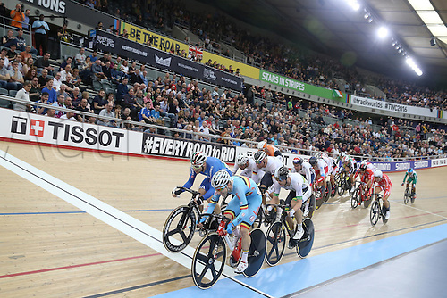 04.03.2016. Lee valley Velo Centre. London England. UCI Track Cycling World Championships Mens Omnium qualifications races. DE BUYST Jasper (BEL)