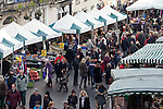 02/12/2012 Frome Christmas Super Market, flea market and artisan market encompassing Cheese and Grain car park, Market Place, Westway Precinct, Stony Street and Catherine Hill. The view looking down Market Place towards Bridge Street. 07/01/2016 This image has been licensed to Frome Town Council for publication only in the Town Map. For other uses, please contact Tim Gander at tim@timgander.co.uk. This licence expires 08/01/2018