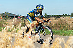 SITTARD, NETHERLANDS - AUGUST 16: Takashi Miyazawa of Japan riding for Saxo-Tinkoff competes during stage 5 of the Eneco Tour 2013, a 13km individual time trial from Sittard to Geleen, on August 16, 2013 in Sittard, Netherlands. (Photo by Dirk Markgraf/www.265-images.com)