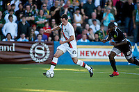 Manchester City's Gregory Cunningham during a match at Merlo Field in Portland Oregon on July 17, 2010.