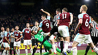 Burnley's Sam Vokes reacts after missing an attempt at goal<br /> <br /> Photographer Rachel Holborn/CameraSport<br /> <br /> The Premier League - Burnley v Newcastle United - Monday 26th November 2018 - Turf Moor - Burnley<br /> <br /> World Copyright &copy; 2018 CameraSport. All rights reserved. 43 Linden Ave. Countesthorpe. Leicester. England. LE8 5PG - Tel: +44 (0) 116 277 4147 - admin@camerasport.com - www.camerasport.com