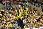 Rhein Neckar Loewe Andy Schmid (Nr.2) beim Wurf beim Spiel in der Handball Bundesliga, Rhein Neckar Loewen - HSG Wetzlar.<br /> <br /> Foto &copy; PIX-Sportfotos *** Foto ist honorarpflichtig! *** Auf Anfrage in hoeherer Qualitaet/Aufloesung. Belegexemplar erbeten. Veroeffentlichung ausschliesslich fuer journalistisch-publizistische Zwecke. For editorial use only.