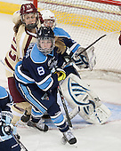 Haley Skarupa (BC - 22), Brooklyn Langlois (Maine - 8) - The Boston College Eagles defeated the visiting University of Maine Black Bears 5 to 1 on Sunday, October 6, 2013, in their Hockey East season opener at Kelley Rink in Conte Forum in Chestnut Hill, Massachusetts.