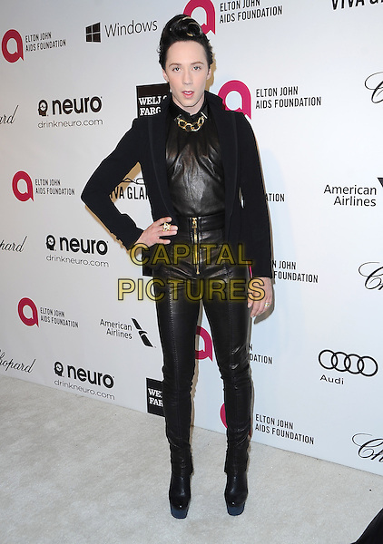 Johnny Weir attends the 2014 Elton John AIDS Foundation Academy Awards Viewing Party in West Hollyood, California on March 02,2014                                                                               <br /> CAP/DVS<br /> &copy;DVS/Capital Pictures